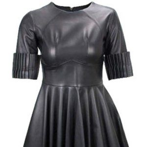 Christopher Kane A-line Mini Black Leather Dress